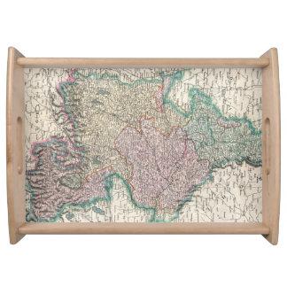 Vintage Map of Bavaria Germany 1799 Food Trays