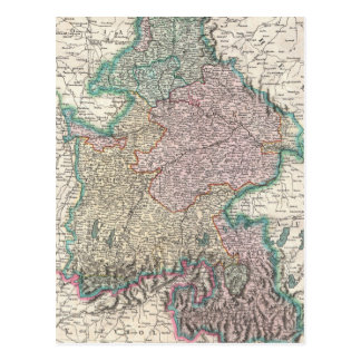 Vintage Map of Bavaria Germany 1799 Post Card