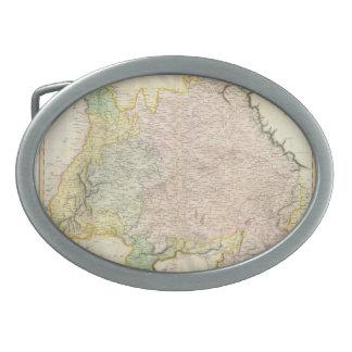 Vintage Map of Bavaria Germany 1814 Oval Belt Buckle