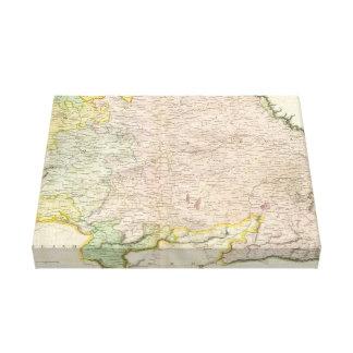 Vintage Map of Bavaria Germany 1814 Canvas Prints