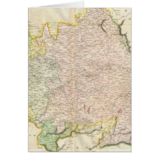 Vintage Map of Bavaria Germany 1814 Card