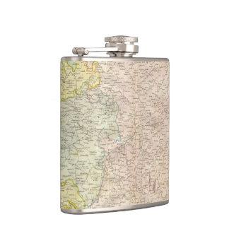 Vintage Map of Bavaria Germany 1814 Hip Flask