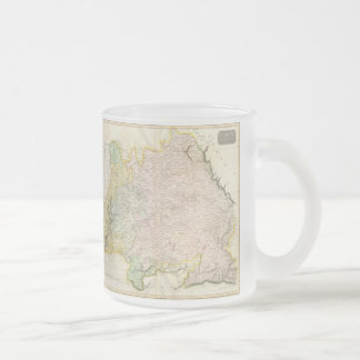 Vintage Map of Bavaria Germany (1814) Frosted Glass Coffee Mug