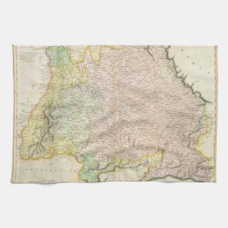 Vintage Map of Bavaria Germany 1814 Towels