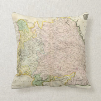 Vintage Map of Bavaria Germany 1814 Throw Pillow