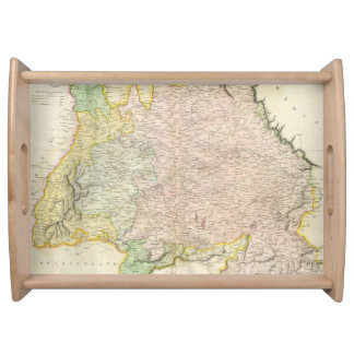 Vintage Map of Bavaria Germany 1814 Serving Tray