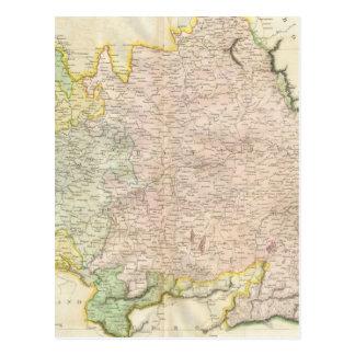 Vintage Map of Bavaria Germany (1814) Postcard