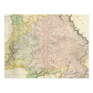 Vintage Map of Bavaria Germany (1814) Postcard