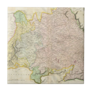 Vintage Map of Bavaria Germany (1814) Tile