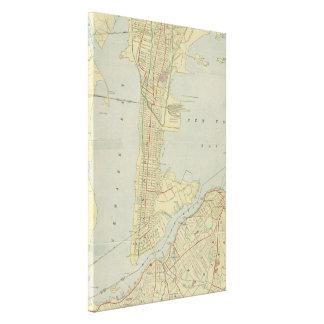 Vintage Map of Bayonne NJ (1912) Canvas Print