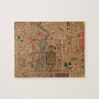 Vintage Map of Beijing China (1914) Jigsaw Puzzle