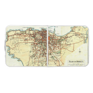 Vintage Map of Beirut | Beer Pong Table