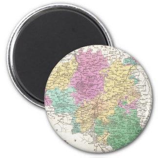 Vintage Map of Belgium (1827) 2 Inch Round Magnet
