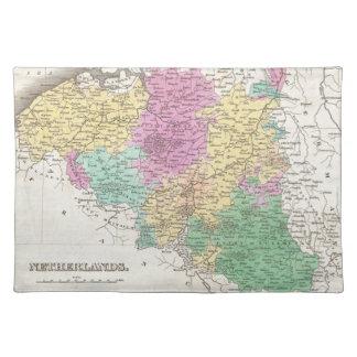 Vintage Map of Belgium (1827) Cloth Placemat