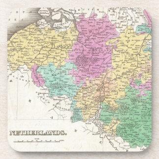 Vintage Map of Belgium (1827) Coasters