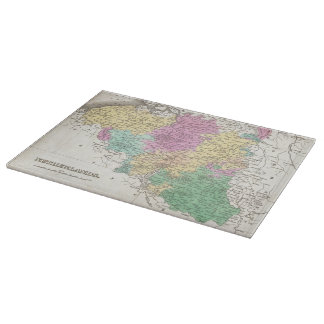 Vintage Map of Belgium (1827) Cutting Boards