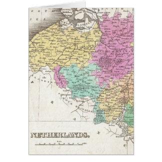 Vintage Map of Belgium (1827) Greeting Card