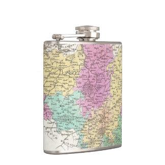 Vintage Map of Belgium (1827) Hip Flasks