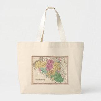 Vintage Map of Belgium (1827) Jumbo Tote Bag