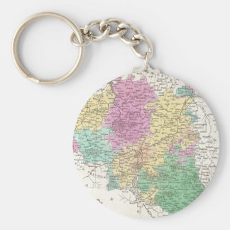Vintage Map of Belgium (1827) Basic Round Button Keychain