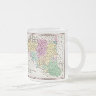 Vintage Map of Belgium (1827) 10 Oz Frosted Glass Coffee Mug