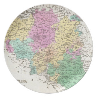 Vintage Map of Belgium (1827) Party Plates