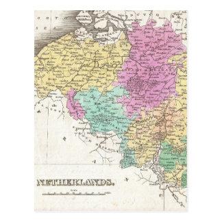Vintage Map of Belgium (1827) Postcard