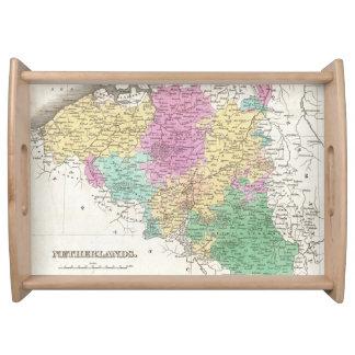Vintage Map of Belgium (1827) Serving Trays