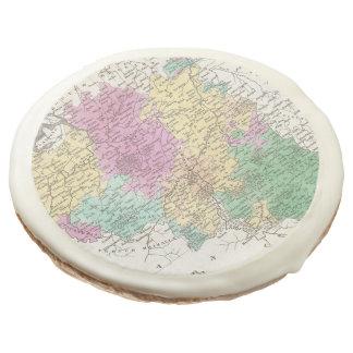 Vintage Map of Belgium (1827) Sugar Cookie