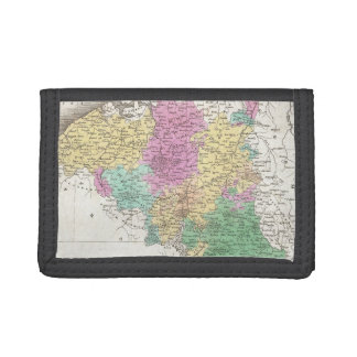 Vintage Map of Belgium (1827) Trifold Wallets