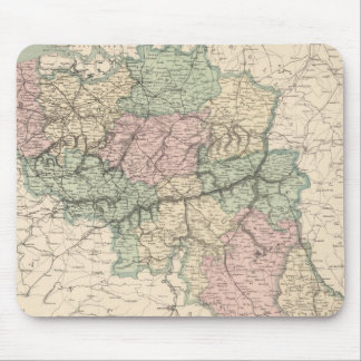 Vintage Map of Belgium (1873) Mouse Pad