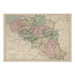 Vintage Map of Belgium (1873) Poster