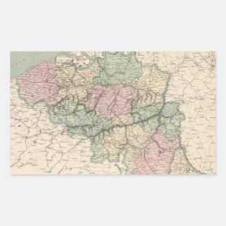 Vintage Map of Belgium (1873) Rectangular Sticker