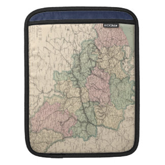 Vintage Map of Belgium (1873) Sleeves For iPads