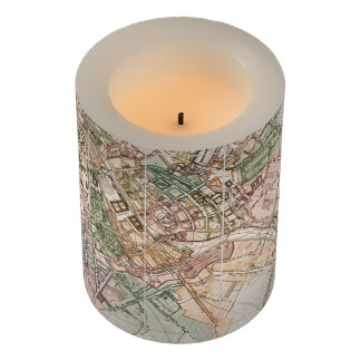 Vintage Map of Berlin (1811) Flameless Candle