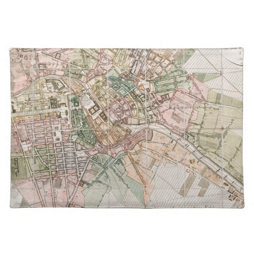 Vintage Map of Berlin (1811) Place Mat