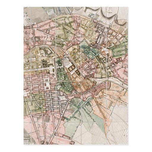 Vintage Map of Berlin (1811) Postcards