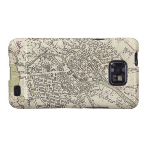 Vintage Map of Berlin (1833) Samsung Galaxy S2 Cover