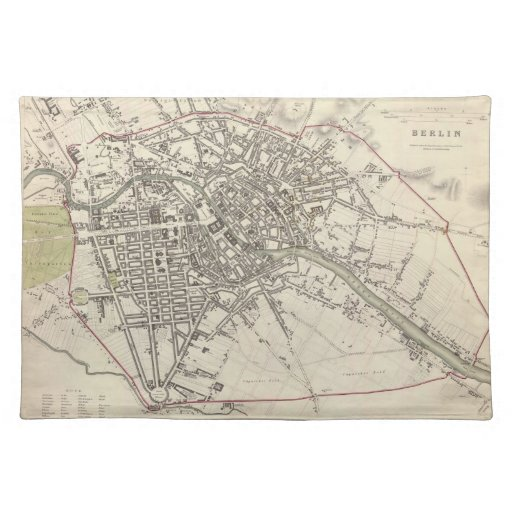 Vintage Map of Berlin (1833) Place Mat