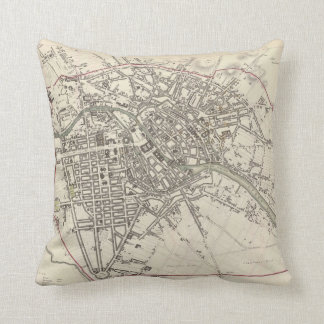 Vintage Map of Berlin (1833) Throw Pillow