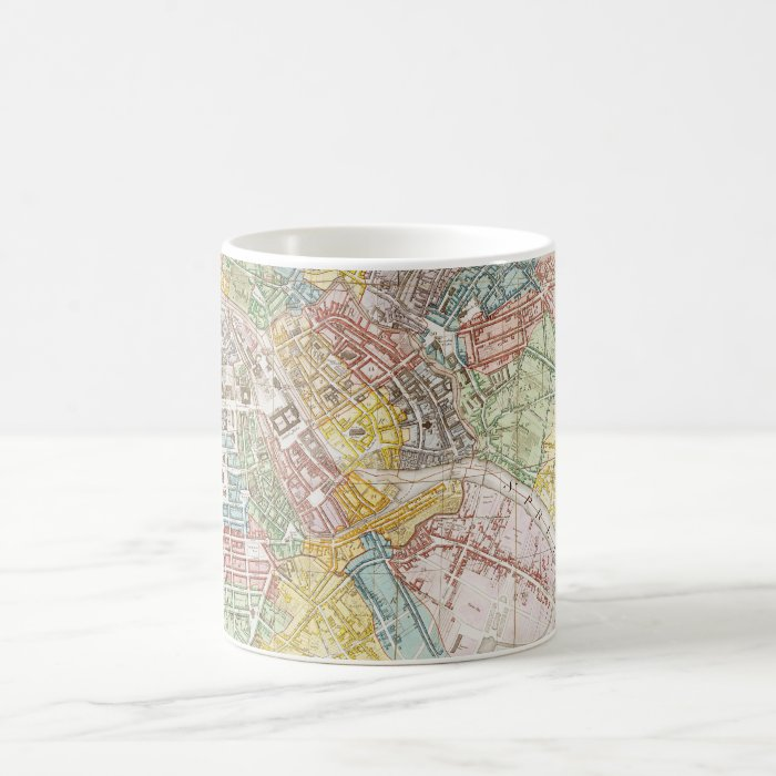 Vintage Map of Berlin (1846) Coffee Mug