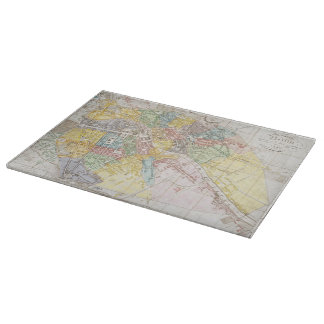 Vintage Map of Berlin (1846) Cutting Board