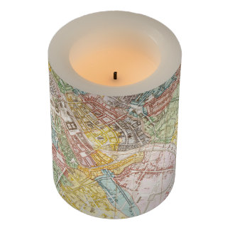 Vintage Map of Berlin (1846) Flameless Candle