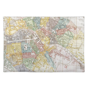 Map Of Berlin Placemats Zazzle - Vintage map berlin