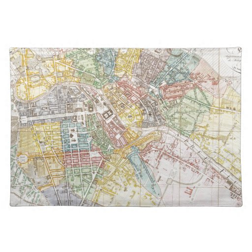 Vintage Map of Berlin (1846) Placemats