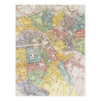 Vintage Map of Berlin (1846) Postcard