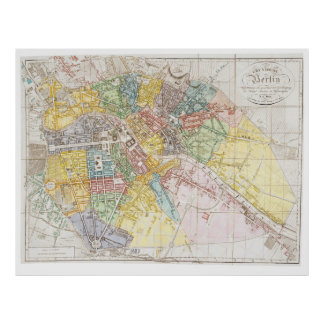 Vintage Map of Berlin (1846) Poster