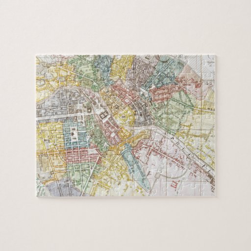 Vintage Map of Berlin (1846) Puzzle