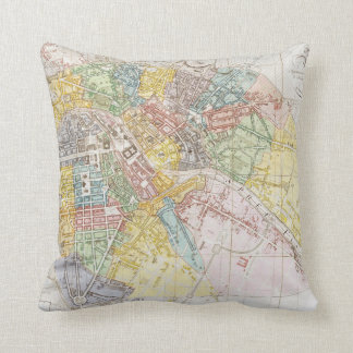 Vintage Map of Berlin (1846) Throw Pillow
