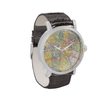 Vintage Map of Berlin (1846) Wrist Watches